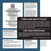 Digitally Printed Policy Signs