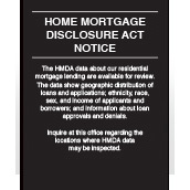 Home Mortgage Disclosure