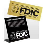 All FDIC Signs