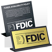 FDIC Signs - Counter