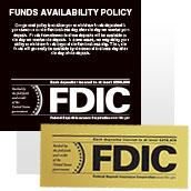 FDIC Signs - Wall