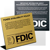 FDIC Magnetic Signs