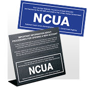 All NCUA Signs