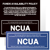 NCUA Signs - Wall
