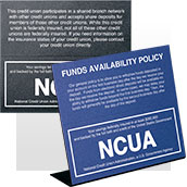 NCUA Signs - Magnetic