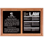 Oak Wall Frame for 2 Acrylic Mandatory Signs