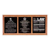 Oak Wall Frame for 3 Acrylic Mandatory Signs