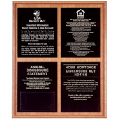 Oak Wall Frame for 4 Acrylic Mandatory Signs