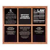 Oak Wall Frame for 5 Acrylic Mandatory Signs