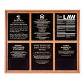 Oak Wall Frame for 6 Acrylic Mandatory Signs