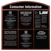 Consumer Information Display for 6 Acrylic Signs