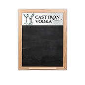 Oak Frame Wall Chalkboard with Tray - 12w x 18h